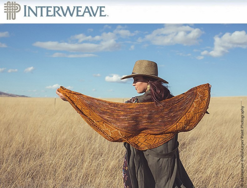 Pfeiffer Shawl by Susanna IC, photo © Interweave Knits/Harper Point Photography